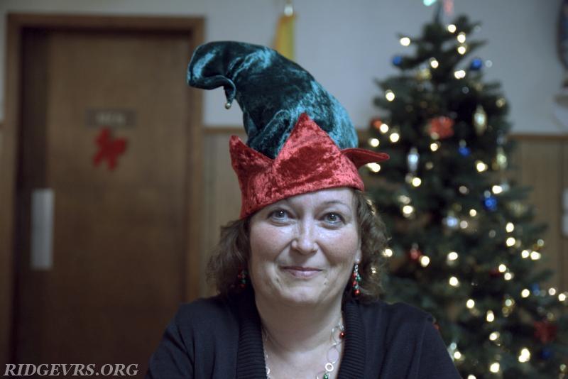 Marie Carroll showcasing her Christmas spirit.