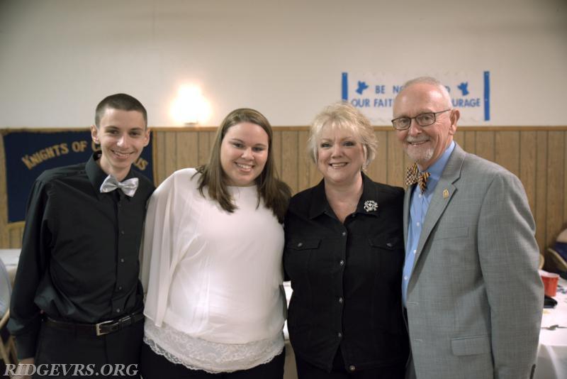 Dylan Lowmiller, Megan Anderson, JoAnn Woodburn, Rocky Woodburn