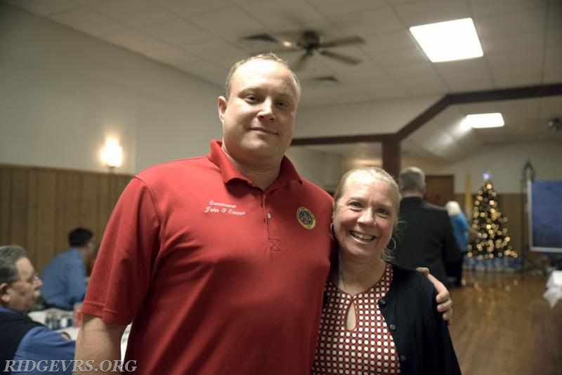 Commisioner John O'Connor and Rita Weaver
