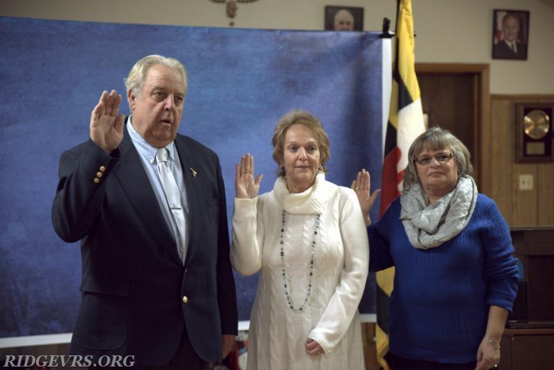 L-R; Chair; JD Biscoe, Co-Chair; Brenda Ridgell, Secretary; Carol Lowmiller. Not pictured; Auxiliary treasurer Marsha Evans