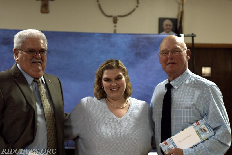 Phil Cooper, Christy Ridgell and Phil Ridgell receiving the 'MVP' award -- Most Valuable Phil's!