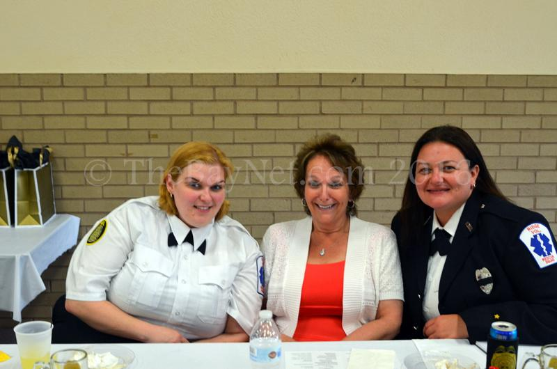 Chief Christy Ridgell, Auxiliary Co-Chairperson Brenda Ridgell, Vice President/Lieutenant Mandy Purdy