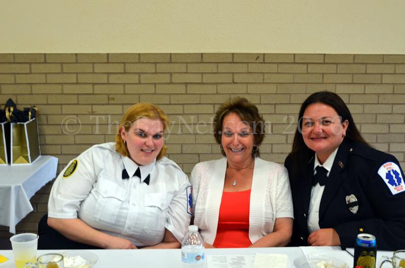 Chief Christy Ridgell, Auxiliary Co-Chairperson Brenda Ridgell, Vice President/Lieutenant Mandy Purdy